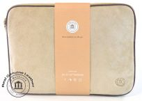 "DBramante 1928 Genuine Sandstone Suede Leather Sleeve Case Laptop Tablet 11"" 12"""